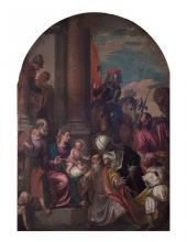 Bottega di Paolo Veronese, Adorazione dei Magi,olio su tela ultimo quarto del XVI secolo (proveniente dalla Chiesa di Sant'Antonio di Torcello – non più esistente)